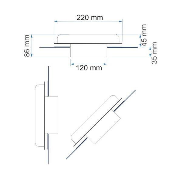 Solarlüfter Dachlüfter Bootlüfter Womolüfter Bürstenloser Motor 102 m³/h