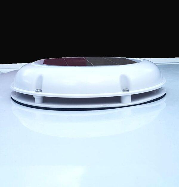 Kunststoff Solarlüfter weiss Dachlüfter Bootlüfter Womolüfter Bürstenloser Motor 102 m³/h
