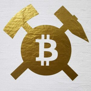 Bitcoin Aufkleber Gold 68 cm Wandtattoo Wall Art