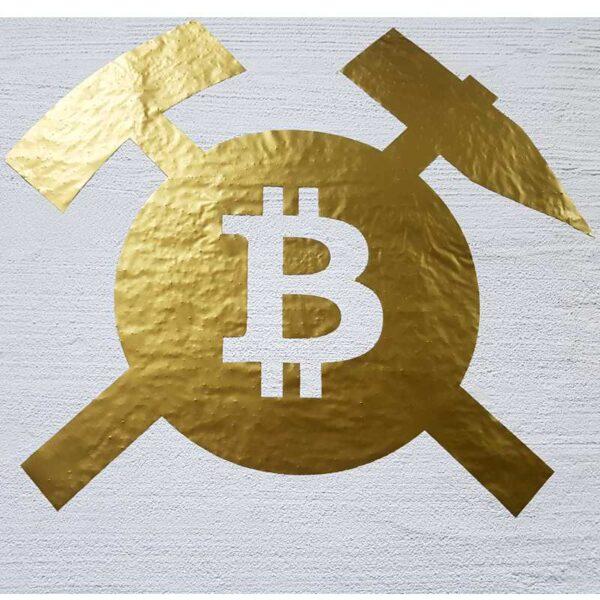 Bitcoin Aufkleber Gold 68 cm Wandtattoo Wall Art