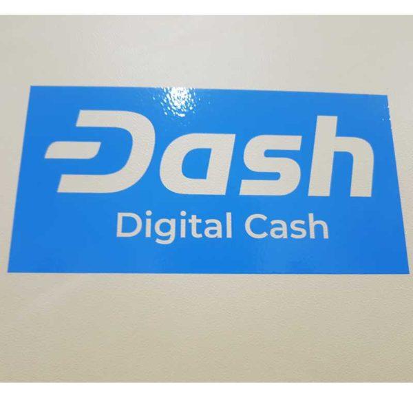 DASH im Original DASH-Blau Aufkleber LIC-DASH-9-1
