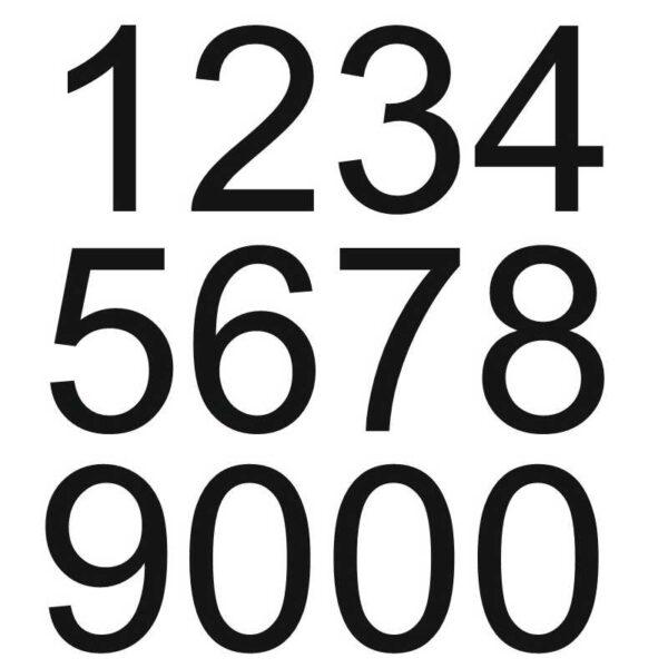 Zahlen SET schwarz montagfertig